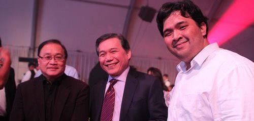 With TV5 Chairman Manny Pangilinan (MVP) and TV5 President Ray Espinosa (RCE)