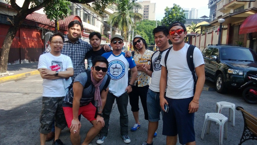 With the team during the viral video shoot for Samsung which featured Lourd and Jun