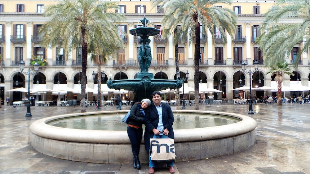 With the wife at Barcelona, Spain
